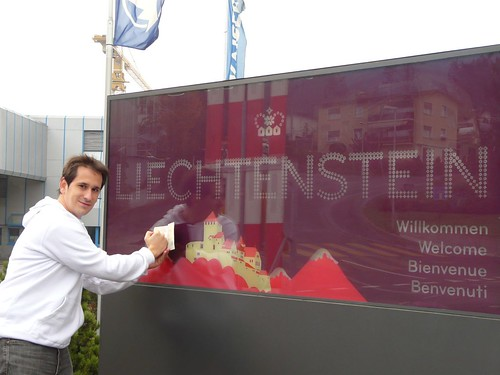 Cartel de Entrada a Liechtenstein por ti.