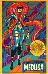 Magnificent MEDUSA (Nick Derington) Tags: light black eye comics poster blacklight third marvel