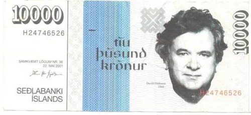 Counterfeit Iceland 10000kr