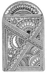 Zentangle 20 Henna Inspired (tropicalart77) Tags: blackandwhite flower texture tattoo design sketch pattern arch journal doodle henna mehndi linedrawing penandink zentangle