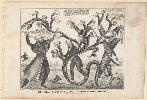 General Jackson Slaying the Many Headed Monster (Henry Robinson, 1833)