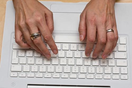 MacBook writing