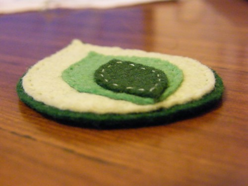 Felt Leaf badge