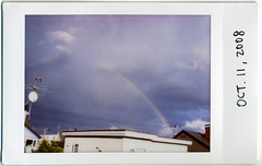 The weather is changeable in fall. (miwas) Tags: autumn fall rainbow myhouse instant fujifilm changeableweather cheki fujiinstaxmini instaxmini instaxmini7s