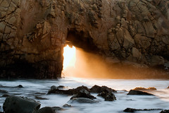 Pfeiffer Arch - Big Sur, California (kendra just is) Tags: california longexposure light sunset seascape beach landscape waves arch b