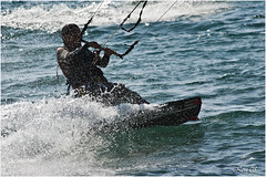 kite contraluz (rperuga) Tags: kite mar surf palams