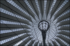 Einstein-Rosen bridge (Toni F.) Tags: berlin thanks architecture composition umbrella technology ceiling potsdamerplatz physics sonycenter sheet wormhole throat blackhole topology gravitation stateoftheart tonif whitehole paralleluniverses potentialwell einsteinrosenbridge frivolousinterpretation