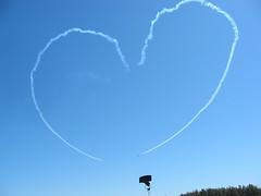 Heart at airshow
