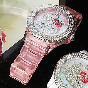 2009 Hello Kitty Collector Edition Swarovski Crystal Encrusted Pink Watch