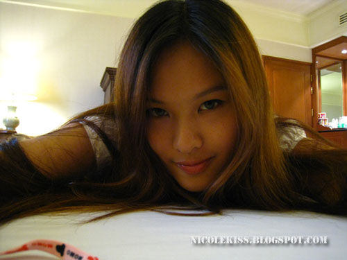 lying down on bed