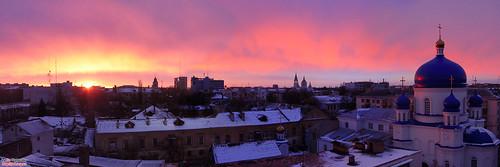 Михайлівська церква на заході Сонця