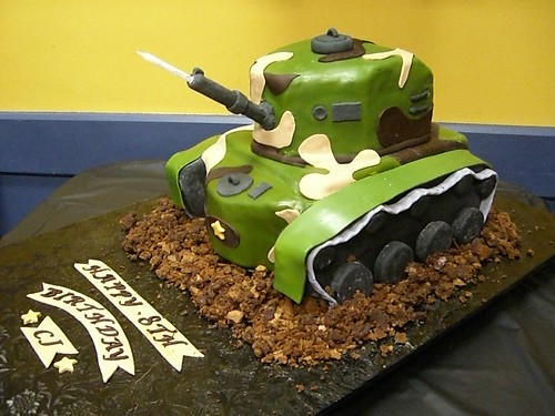 Army Themed Cakes Army Tank Cake