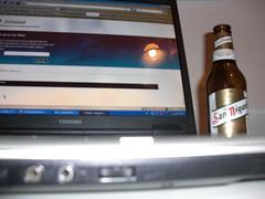 Jobsket y cerveza San Miguel
