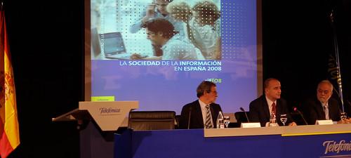 """Miguel Sebastián presenta el """"Estudio de la Sociedad de la Información en España 2008"""""""