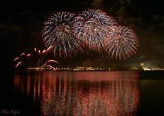 .. Fire works (Maryam.Ibrahim) Tags: reflection night december day fireworks celebration national corniche 18 doha qatar mywinners abigfave
