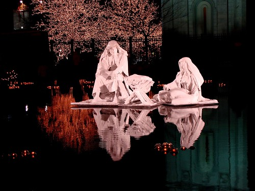 mormon nativity on relfection pond