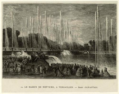 009-El estanque de Neptuno en Versalles 1875