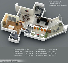 Pune Properties - Real Estate India - Vilas Palash Floorplan1