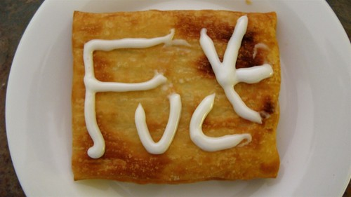 Entertaining the boy (okay, MYSELF) with toaster strudel