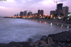 Between Calm & storm (Nouf Alkhamees) Tags: sea fab beach canon kuwait alk nono salmiya nof alkuwait الكويت كويت بحر nouf كانون نوف السالمية نونو سالمية