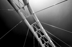 Hanging By A Thread(s) (red_dotdesign) Tags: bridge bw toronto suspension structure geometrical
