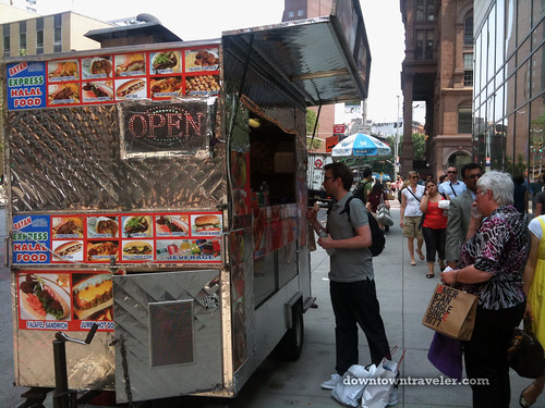 NYC East Village Falafel Cart at Astor Place