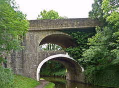 "Bridge 161 ""Double Arched Bridge"" on the Leeds and Liverpool Canal at East Marton by Tim Green aka atoach"