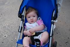 Eva in her Stroller