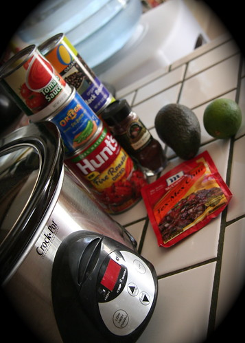 Ingredients for California Black Bean Chili