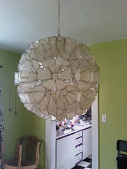 our new chandelier for the dining room