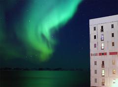 Nuuk: Aurora borealis by Blok 17 (Jesper Albrechtsen) Tags: winter lights vinter aurora northern borealis nuuk nordlys