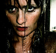 Addicted to Water (Elsa Prinsessa) Tags: portrait selfportrait wet water girl contrast dark iceland drops eyes waterdrops elsa intensity supershot 50faves justimagine inherownimage reykjavk mywinners abigfave artlibre platinumphoto anawesomeshot megashot adoublefave elsaprinsessa theperfectphotographer atqueartificia elsabjrgmagnsdttir