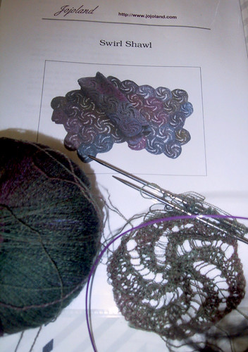 swirl shawl progress 041708