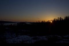 Good Evening shot (Zach Bonnell) Tags: lake 350d xt gander