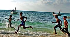 running against waves