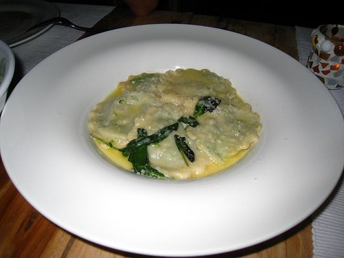 Ravioli with Spinach & Ricotta Cheese served with Sage & Butter
