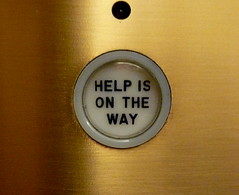 Help is on the way, elevator, Chicago Tribune, Chicago, IL.JPG by gruntzooki on Flickr!