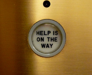 Help is on the way, elevator, Chicago Tribune,...