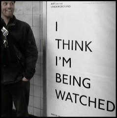 i think you could be right (estherase) Tags: emssimp findleastinteresting jon noj nojjohnson friend dimple ithinkimbeingwatched paranoia underground tube poster text sign myfaves london uk 250311 friends
