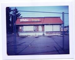 Duffin's Donuts (grahamcase) Tags: polaroid landcamera polaroid669 polaroidautomatic103
