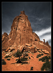 To Rise Above the Rest I (Dan.Heacock) Tags: above park travel red southwest dan rock utah nikon awesome arches spire national american moab rest rise d300 heacock danheacock