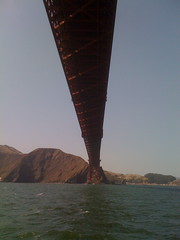 Underneath the Golden Gate Bridge