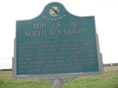 Exploring Oklahoma History: Run of '89  - North Boundary