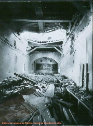 Destrozos en la Guerra Civil en el Convento de San Clemente de Toledo.