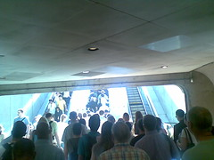 Metro Escalator Bottleneck