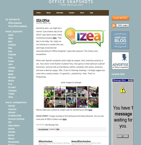 IZEA Featured on OfficeSnapshots.com