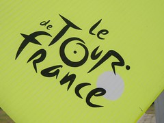 Tour de France, Part of a directional sign, with the logo
