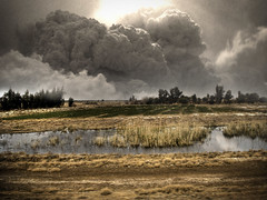 I think I should call 911 (Aaron Escobar) Tags: landscape fire photo cool iraq aaron 911 explosion scene osama gas terror terrorism inferno bomb saddam incredible escobar hussein binladen wildfire petroleum photomatix cotcpersonalfavorite aplusphoto jediphotographer