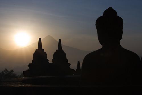 婆羅浮屠(Borobudur ) 的日出