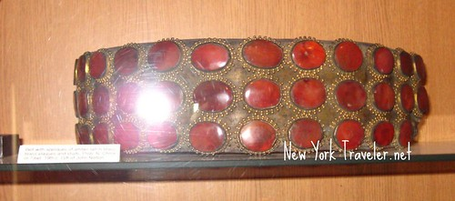 Tibetan Brass Amber Belt 19th Century